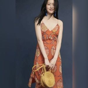 Anthropologie Anupamma Summer Silk Dress